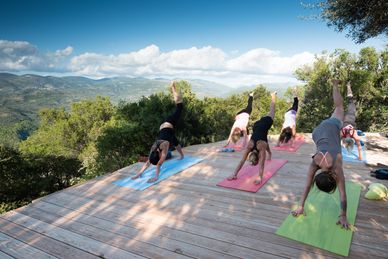 Yoga in der Eco Lodge Home of Silence Griechenland